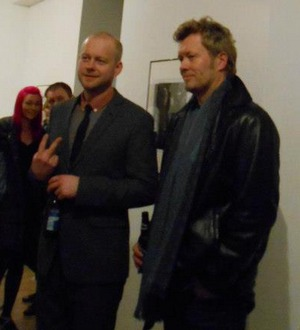 Stian Andersen and Magne Furuholmen at Strand Gallery in London, 27 February 2013