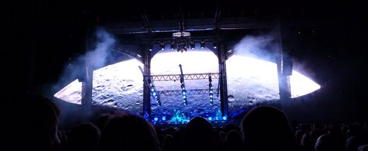 "An amazing video show. Here's the moon during ""Minor Earth, Major Sky"" (Picture by Jakob)"