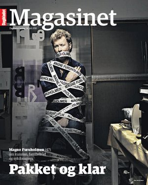 Magne on the cover of Magasinet, 24 July.