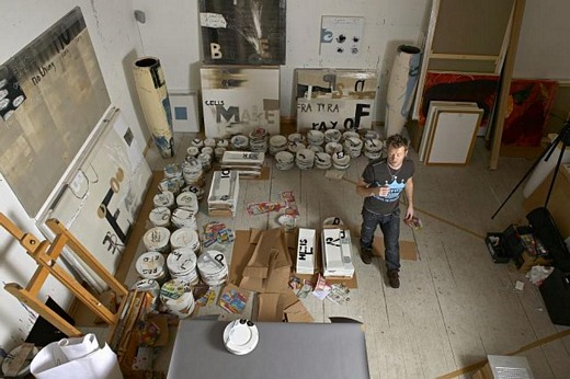 Magne in his atelier