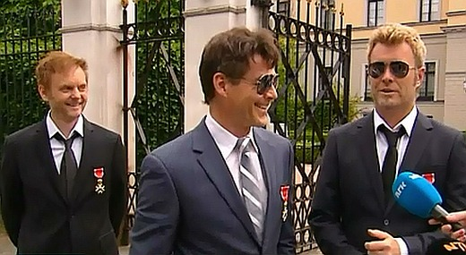 a-ha outside the Royal Palace in Oslo, June 10th
