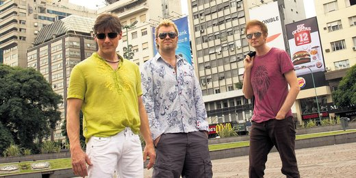 a-ha at Plaza de la Republica in Buenos Aires yesterday