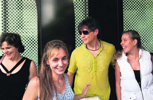 Morten and some local fans