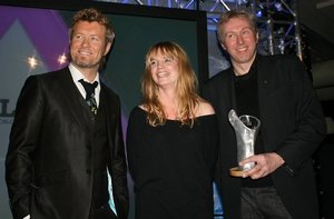 Magne with Ingrid Olava and Oddvar Høie (Statoil's head of marketing)