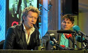 Magne and Morten at the press conference