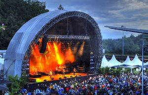 The Live at Sunset festival stage in Zurich