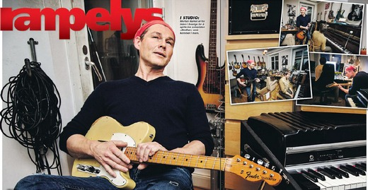 Morten in the studio in Stockholm (From VG's paper edition)
