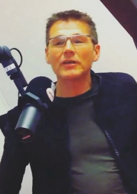 Morten in Radio Norge's studio, February 13th