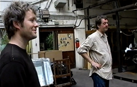 Magne and Kjell Nupen, working together in Paris in 2002.