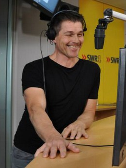 Morten in the studios of SWR1 in Stuttgart, March 25th (Picture from swr.de)