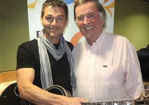 Morten with Terry Wogan (Picture by BBC Radio 2)
