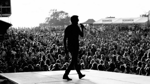 From the music video; Morten on stage in Kristiansand, July 11th