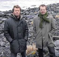 Magne and Hugo Opdal at Flø, February 2008