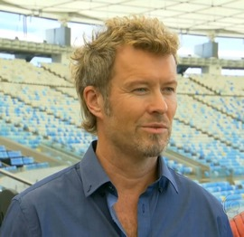 Magne interviewed by G1 at Maracana Stadium