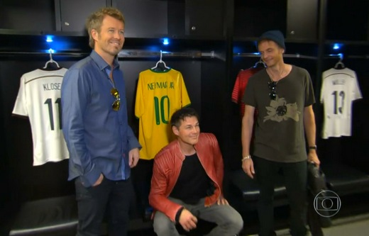 a-ha at Maracana Stadium, 4 December 2014