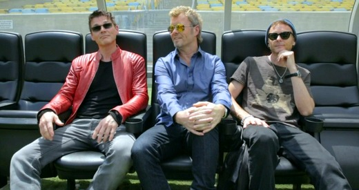 a-ha at Maracana Stadium in Rio last month