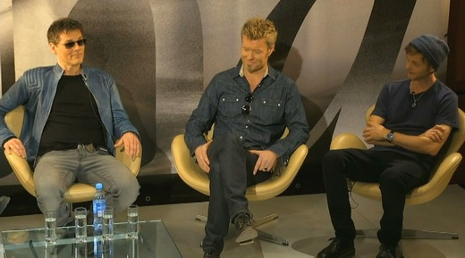 a-ha at today's press conference in Berlin