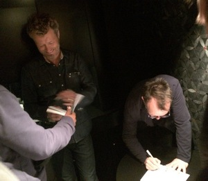 Magne and Steve Barron signing books (Photo by Judith Heinrich)