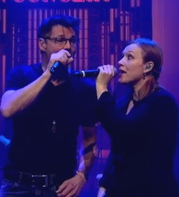 Morten and Anneli singing together for the first time in six years