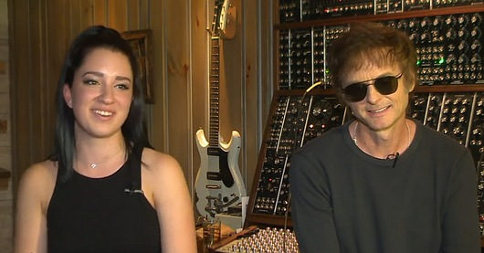 Zoe and Paul interviewed by NRK in Paul's Brooklyn studio